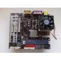 Jetway V2MDMP Socket A (462) Motherboard With AMD Athlon XP 2100 Cpu