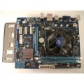 Gigabyte GA-H61M-S2-B3 Skt 1155 Motherboard With Intel Celeron 2.50 GHz Cpu