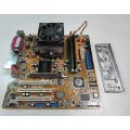 Asus K8V-MX Socket 754 Motherboard With AMD Athlon 3000 Cpu