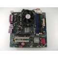 Pegatron AP480C-S Socket AM2 Motherboard With Athlon X2 3250e Cpu No Backplate