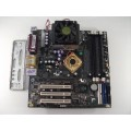 Chaintech P35-121-16B9 Socket A (462) Motherboard With AMD Athlon XP 2800 2.1 GHz Cpu