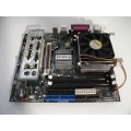 AOpen Socket 478 MX4SGI-N Motherboard With Intel Celeron 2.60 GHz Cpu
