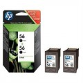 HP 56 Twin Pack Original Ink Cartridges C9502AE Black
