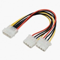 Molex PC Power Y Adapter Splitter Cable 5.25""