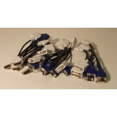 Job Lot 14x DVI-I Male to DVI-D And VGA Female Splitter Cable
