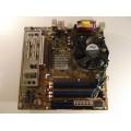 Asus P5P800-VM Socket 775 Motherboard With Intel Celeron 3.06 GHz Cpu