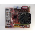 MSI K9NGM4 MS-7506 Socket AM2 Motherboard With AMD Athlon X2 Dual Core 4850e Cpu