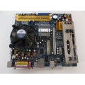 Asrock Wolfdale1333-GLAN/M2 Motherboard With Intel Dual Core E2160 1.80 GHz Cpu