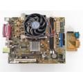 Asus K8ST REV 1.02 Socket 754 Motherboard With AMD Sempron 3000 1.80 GHz Cpu