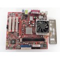 MSI MS-6734 KM4M Socket A (462) Motherboard With AMD Athlon 2400 2.00 GHz Cpu