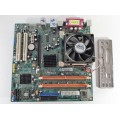 ECS 945GCT-NM REV:1.0 Socket 775 Motherboard With Intel Pentium 3.00 GHz Cpu
