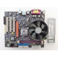 ECS P4M800PRO-M2 REV:2.0 Socket 775 Motherboard With Intel Pentium 3.00 GHz Cpu
