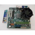 Acer Micro-Star N1996 Socket 775 Motherboard With Intel Core 2 Duo 2.6 GHz Cpu