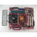 MSI MS-6787 VER:2 Socket 478 Motherboard With Intel Celeron 2.40 GHz Cpu