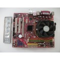 MSI K9NGM4 MS-7506 Socket AM2 Motherboard With AMD Sempron LE 1300 2.30 GHz Cpu