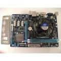 Gigabyte GA-H61MA-D2V Skt 1155 Motherboard With Intel Celeron G555 2.70 GHz Cpu