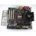 AOpen MX4LR Socket 478 Motherboard With Intel Pentium 1.80 GHz Cpu