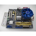 Foxconn 45CM-SB Socket 775 Motherboard With Intel Dual Core E2140 1.60 GHz Cpu