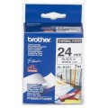 Brother AL-K251 24mm Black on White Tape