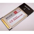 Belkin P10408-A Wireless G F5D7010v8 PCMCIA Notebook Card