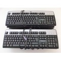 Job Lot 8x Hewlett Packard KB-0316, SK-2880 PS2 Keyboards